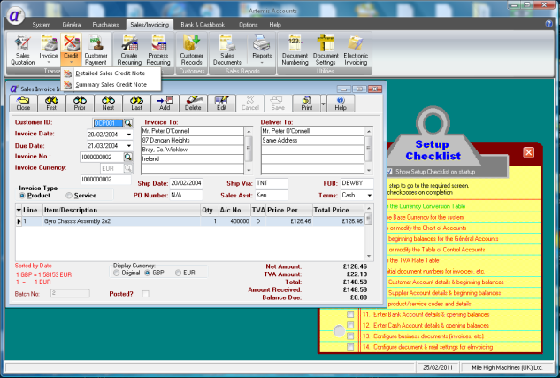 Click to view Artemis Accounts 2 3.0.11 screenshot
