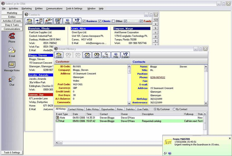 Click to view SalesCycle CRM 1.06.510 screenshot